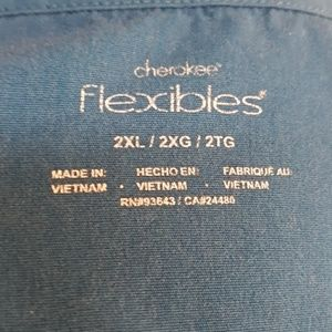 Cherokee Tops - 2 Cherokee Maternity Flexibles Scrub Tops
